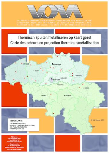 Thermisch spuiten / Metalliseren op kaart gezet, juni 2010