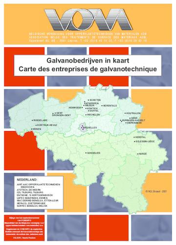 Galvanobedrijven in kaart gebracht, september 2008