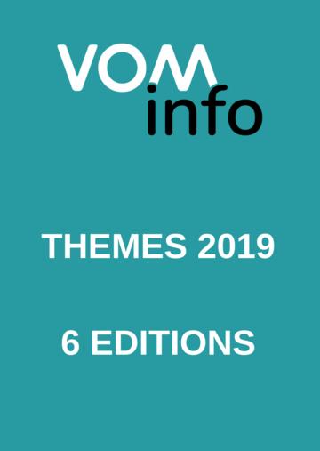 Numéros thématiques VOMinfo 2019
